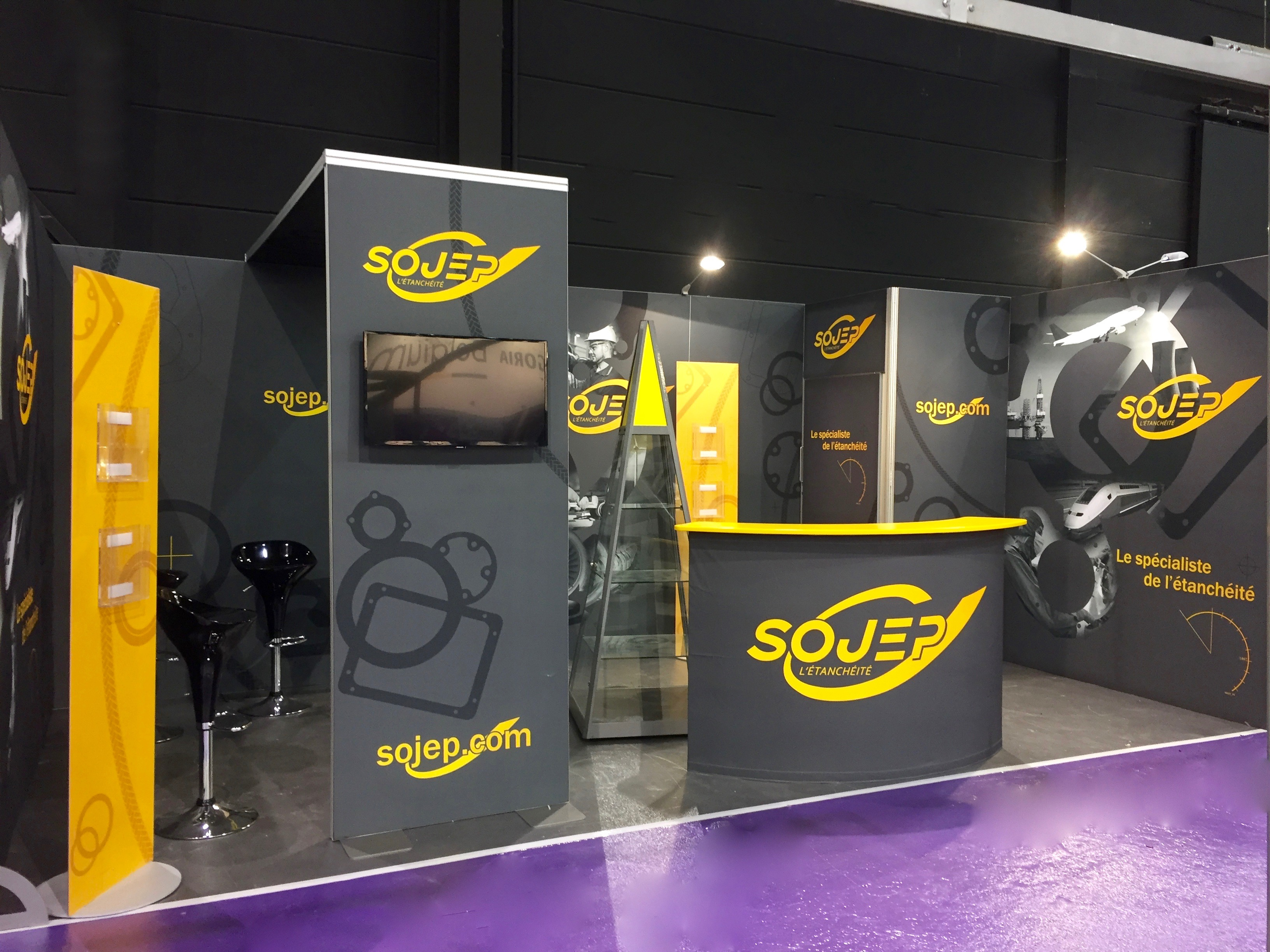 Sojep stand exposition salon sepem industrie rouen douai for Salon sepem