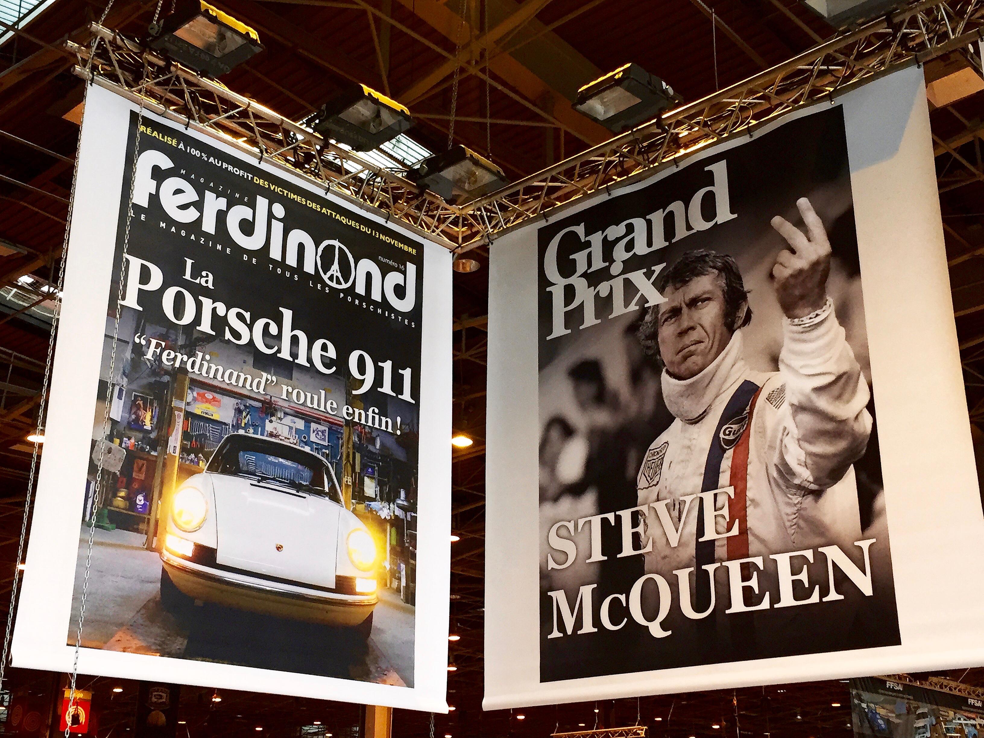 Impression bache pvc grand format interieur exterieur stand exposition salon retro mobile for Prix stand salon