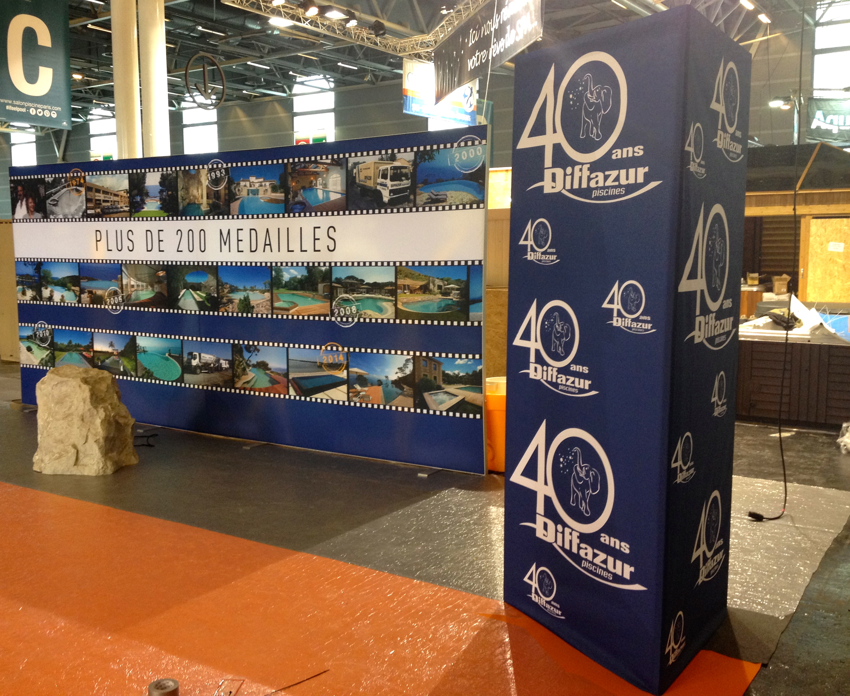 Cadre tissu tendu 03 soli 39 expo for Salon de la piscine paris