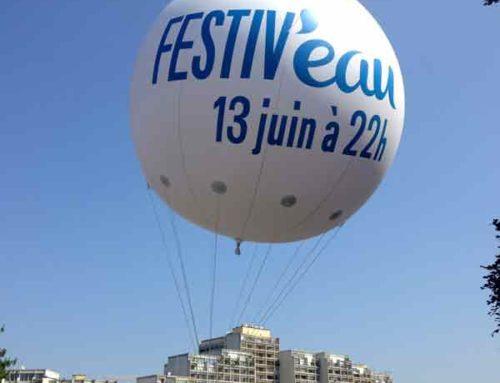 Ballon hélium géant les Festiv'eau 2015