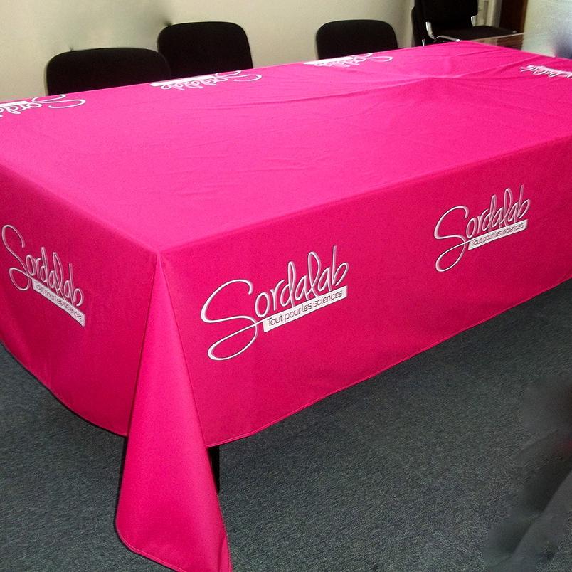 Nappes personnalisée pour habillage de table vos expositions