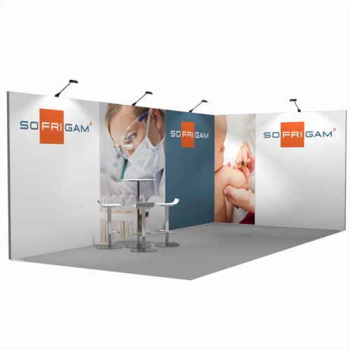 STAND CADRE TEXTILE 18M²
