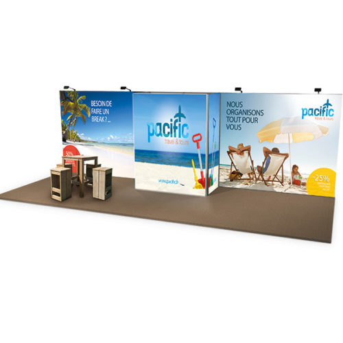 STAND CADRE TEXTILE 24M²