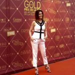 sandralou-photocall-gold-prix-tnt-soliexpo-stand-exposition