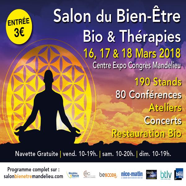 Salon du bien etre bio th rapies de mandelieu 2018 for Salon bien etre mandelieu
