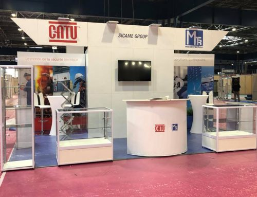 STAND 18 M² CATU SALON SEPEM INDUSTRIES GRENOBLE 2018